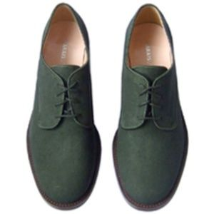 Marais USA Hunter Green Canvas Oxford Shoes